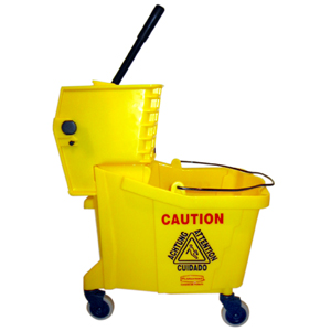 """Who's dumb enough to miss a bright yellow mop bucket,"" you ask? *raises hand*"