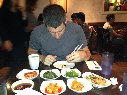 Crouching Jason, Eating Kimchi